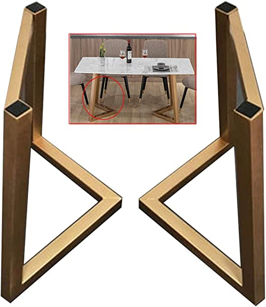 DGXQ 2 X Patas de Mesa Metalicas,40/50/60cm Doradas,600kg de Capacidad,Patas para Mesas de Café,Antideslizante,Tornillos Incluidos: Amazon.es: Hogar