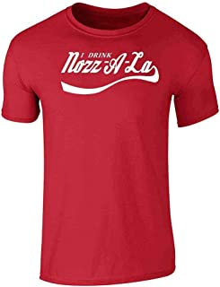 I Drink Nozz-A-La Halloween Costume Graphic Tee T-Shirt for Men