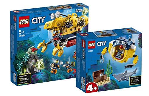 Collectix Lego City - Set: 60264 Meeresforschungs-U-Boot + 60263 Mini-U-Boot für Meeresforscher