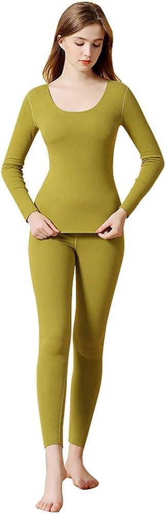 Dizadec Thermal Underwear for Women Ultra Soft Long Johns Set with Fleece Lined Base Layer Women Top & Bottom Winter