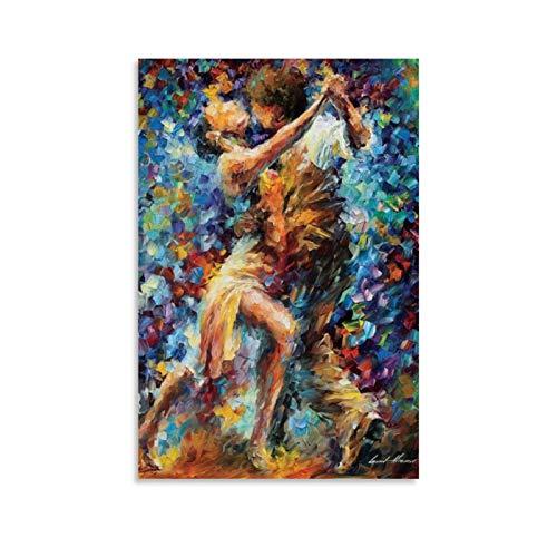xiaochouyu Pose de baile apasionado – International Struggle Of Lust por Leonid Afremov Lienzo artístico y mural impreso artístico moderno para decoración de dormitorio familiar de 60 x 90 cm