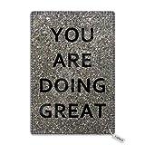 Eliuji Cartel de metal con texto en inglés «You are Doing», para decoración de pared, retro, moderno, elegante, divertido para bar, cafetería, garaje, casa, patio al aire libre, 20,3 x 30,4 cm