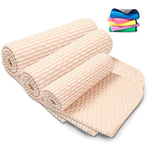 Lauce 防水シーツ おねしょシーツ ベビー 赤ちゃん 介護用品 ペット シーツ こども おむつ 替えシート ベビー ベッド 生理用 車いす 天然綿 通気 防水 (50×70cm)