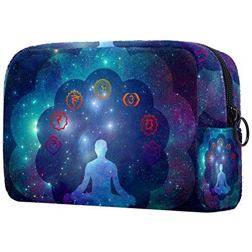 Trousse de toilette portable pour femme, sac à main, cosmétiques et voyage - Symboles chakras