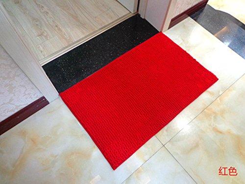 TS-nslixuan-Tapis Chenille Tapis Chambre à Coucher Salle de Bains,60cmx90cm,de Gueules