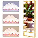 Hollywood Style LED Vanity Lights, 22.6 ft LED Vanity Lights Kit with 14 Dimmable Bulbs, DIY Stick-on Lighting Fixture Strip for Makeup Vanity Table, Bathroom and Dressing Room Wall Mirror ( Pink )