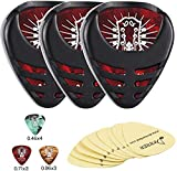 Donner 3 Pack Guitar Pick Holder Mini Sticky Style,10 Pcs Picks of Thin Medium Heavy,9 Pcs 3M Stickers for Acoustic Guitar Electric Guitar...