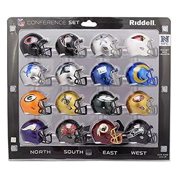 Riddell NFC 2020 Pocket Pro Speed Mini Helmet Conference Set for The NFL Multi