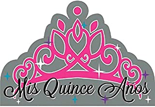 amscan Elegant Mis Quince Años Birthday Party Postcard Invitations Cards Supply (8 Pack), Gray, 6 1/4
