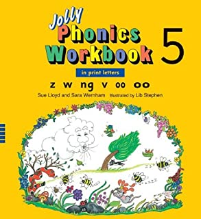 Jolly Phonics Workbook 5: In Print Letters, Z W Ng V Short oo Long oo