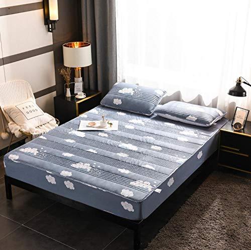 GSYHZL Protector de colchón,Funda de colchón Plegable para niños Protector Lavable KingFitted Sábana Sábana Colcha-3_180x220cm + 30cm