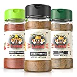 3 Bottle Keto Combo Pack - Everything, Garlic Lovers, Taco Tuesday (Flavor God Seasonings - Gluten Free, Low Sodium, Paleo, Vegan, No MSG)