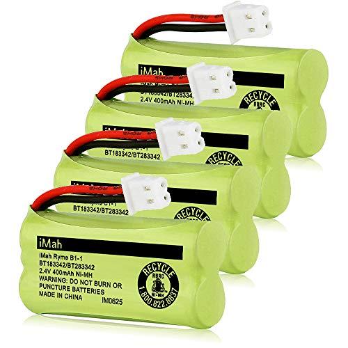 iMah BT183342 BT283342 BT166342 BT266342 BT162342 BT262342 Cordless Phone Battery Compatible with VTech CS6114 CS6419 CS6609 CS6719 AT&T EL50003 EL52300 CRL80112 CRL82312 Handsets Telephone, Pack of 4