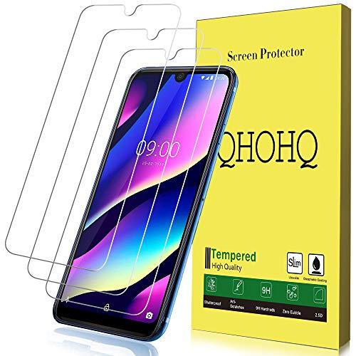 QHOHQ Schutzfolie für Wiko View 3, [3 Stück] [9H Festigkeit] HD Transparent Anti-Kratzen [Blasenfrei] Panzerglas
