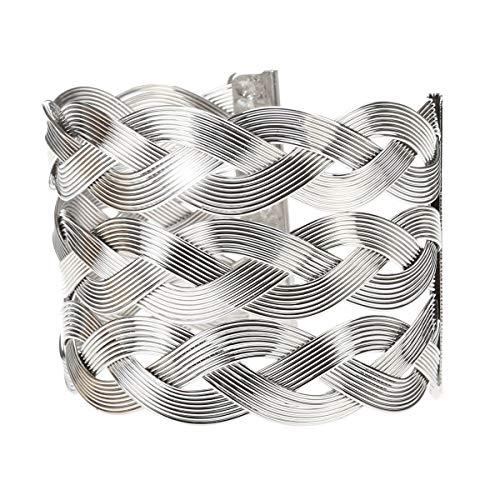 La Modeuse - Pulsera con hilos trenzados horizontalmente
