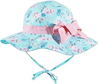 LACOFIA Chapeau Bob de Soleil Bébé Bonnet d'été pour Enfant Garçon Fille Casquette de Plage à Bord Large Enfant UPF 50+ av...