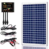 SUNER POWER 30 Watts Poly Crystalline 12V Solar Panel Kits - Waterproof 30W Solar Panel + Upgraded 10A Solar Charge Controller +...
