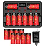 CR123A Rechargeable Battery, FARSAIL 16-Pack 700mAH Arlo Batteries Rechargeable and Charger for Arlo VMC3030 VMK3200 VMS3130 3230C 3430 3530 Wireless Security Cameras, Flashlight and More