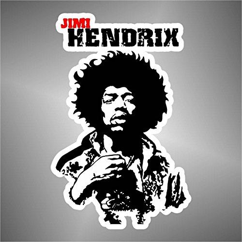 Pegatinas Jimi Hendrix hip hop rap jazz hard rock metal pop funk adhesivo
