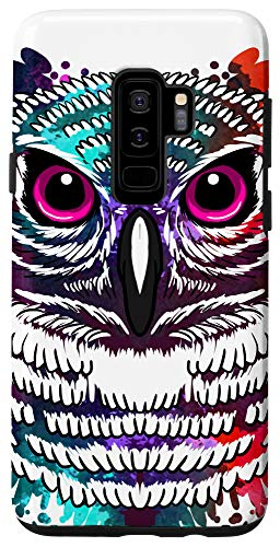 Galaxy S9+ Spalt Owl Color Paint Design Cool Bird Animal Lover Gift Case