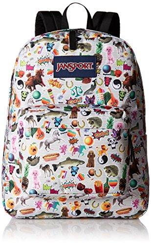 JanSport Superbreak Backpack- Sale Colors (Multi Stickers)