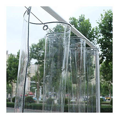 KAISIMYS Lona de PVC Transparente Impermeable para Trabajo Pesado Resistente a la Intemperie Cortina Impermeable Transparente para Exteriores con Ojales Cubiertas para Muebles de jardín (Color: Trans