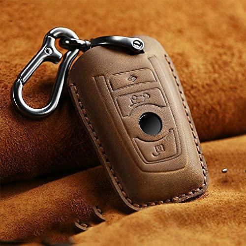 Cover chiave AUTO, custodia portachiavi portachiavi auto, per BMW 520525 f30 f10 F18 118i 320i 1 3 5 7 serie X3 X4 M3 M4 M5 custodia portachiavi telecomando per auto marrone ( Color : Brown )