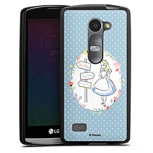 Silikon Hülle kompatibel mit LG Leon Case schwarz Handyhülle Offizielles Lizenzprodukt Disney Alice im Wunderland