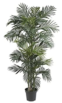 Nearly Natural 5289 6.5ft Golden Cane Palm Silk Tree,Green