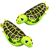 O2COOL Sea Turtle BocaClips, Beach Towel Holders, Clips, Set of Two, Beach, Patio or Pool Accessories, Portable Towel Clips, Chip Clips, Secure Clips, Assorted Styles