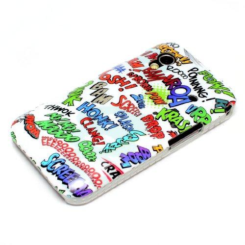 Samsung Galaxy Ace 1S5830i Hardcase Comic Font Luz Protección Segura contra arañazos, daños, golpes y daños de caídas Plástico de alta calidad Procesamiento–Exact Fit y la más alta calidad. Todos los puertos y botones/salidas libremente accesibles...