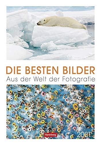 Die besten Bilder - Kalender 2021 - Harenberg-Verlag - Wochenkalendarium - 54 Blatt mit außergewöhnlichen Aufnahmen - Wandkalender - 24,8 cm x 36 cm - Küchenkalender - Kulturkalender