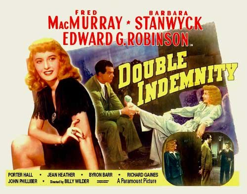 Pop Culture Graphics Double Indemnity Poster Movie C 11x14 Fred MacMurray Barbara Stanwyck Edward G. Robinson Tom Powers