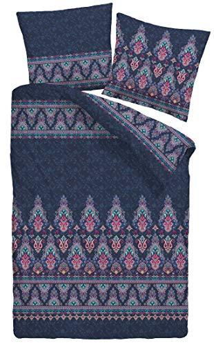 Dormisette Mako-Satin Bettwäsche Oriental 1 Bettbezug 135x200 cm + 1 Kissenbezug 80x80 cm