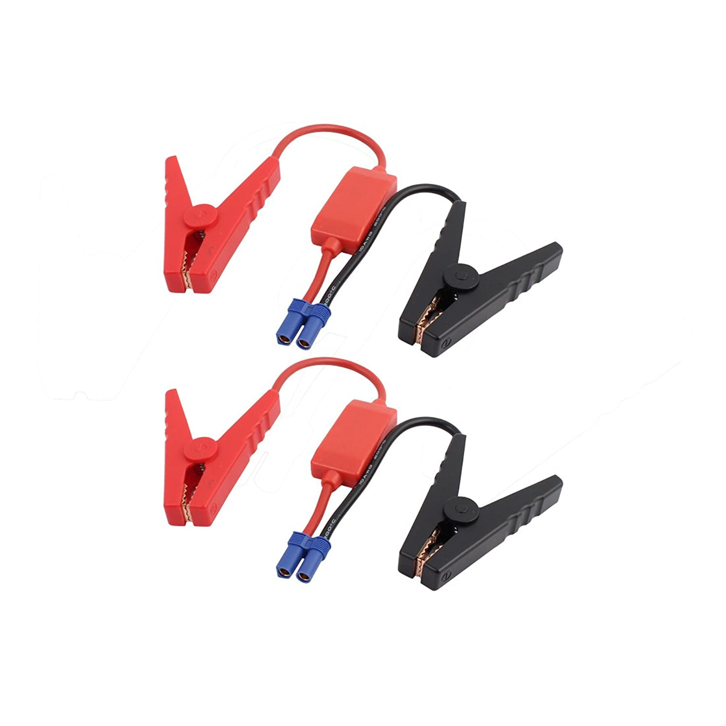 Aexit 2pcs EC5 Caulk Connector Emergency Jumper Cable Alligator Clamps Booster Battery Clips for Universal Car Rope Caulk Jump Starter