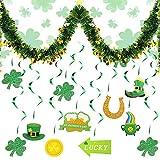13PCS St Patrick's Day Decoration Kit, 12x Remolinos con Trébol...