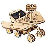 ROKR Assemble Solar Energy Powered Cars-Moveable 3D Wooden Puzzle Toys-Funny Teaching Educational-Home Deco-Model Building Sets-Best Christmas,Birthday Gift for Boys,Children,Adult (Spirit Rover)