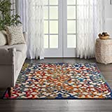"Nourison Aloha Multicolor Easy-Care Indoor-Outdoor Rug 3'6"" x 5'6"", 3'6""X5'6"","