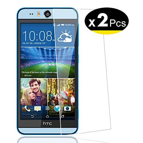 NEW'C PanzerglasFolie Schutzfolie für HTC Desire Eye, [2 Stück] Frei von Kratzern Fingabdrücken und Öl, 9H Härte, HD Displayschutzfolie, 0.33mm Ultra-klar, Displayschutzfolie