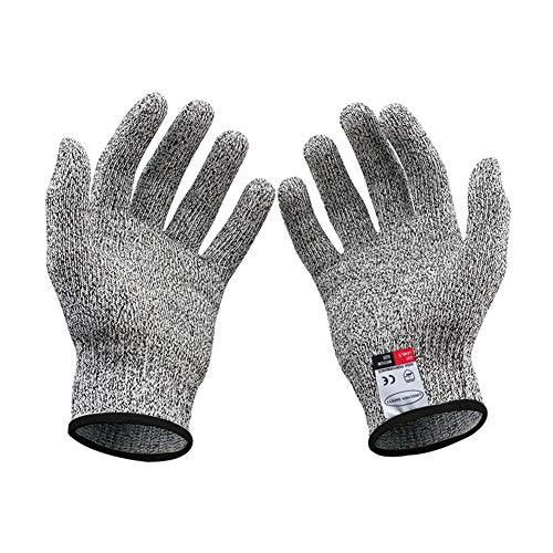Schnittschutz-Handschuhe (1 Paar) – Extra Starker Level 5 Schutz, Hochwertiger & Leichter Kettenhandschuh (Schwarz(XL))