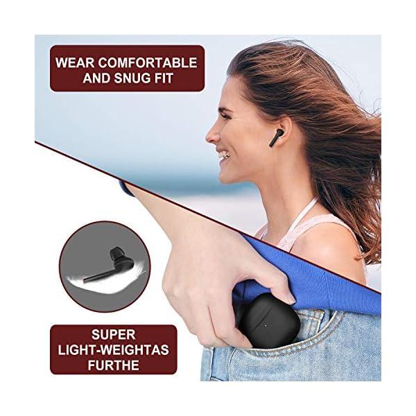 Wireless Earbuds, Bluetooth 5.0 Sport in-Ear Earphones Headset with Charging Case 5
