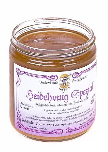 Heidehonig Spezial 500g – herzhaftes Aroma, naturbelassen (von Imkerei Nordheide)