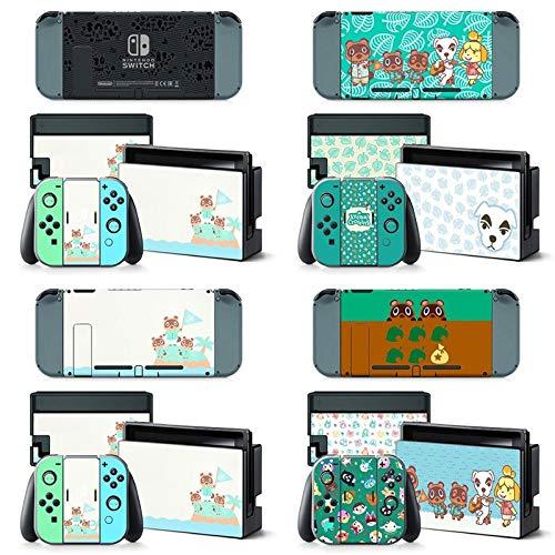 BLOUR Vinilo Adhesivo de Piel Animal Crossing para Nintendo Switch Pegatina Piel NS Consola y Controladores Joy-con Pegatinas de nuevos horizontes