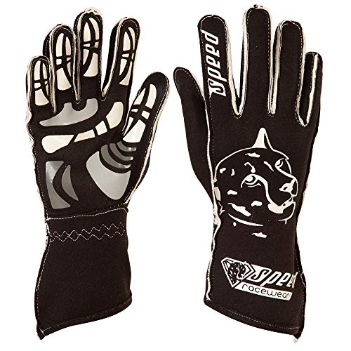 Speed Racewear Motorsport Handschuhe - Karthandschuhe Melbourne - Schwarz/weiß (12)