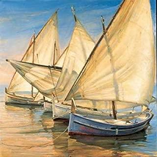 Posterazzi Windward Latin Sails Poster Print by Jaume Laporta (12 x 12)