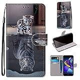 Huawei Honor 6C Pro Hülle, SATURCASE Schön PU Lederhülle Magnetverschluss Brieftasche Standfunktion Handschlaufe Schutzhülle Handy Tasche Hülle für Huawei Honor 6C Pro/Honor V9 Play (DK-5)