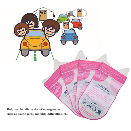Bnineteenteam 4 Pcs Disposable Urine Bags, 700ml Super Absorbent Sealable Pee Bag Vomit Bags for Outdoor Activities, Traffic Jams and Driving a Long-Distance Car ect