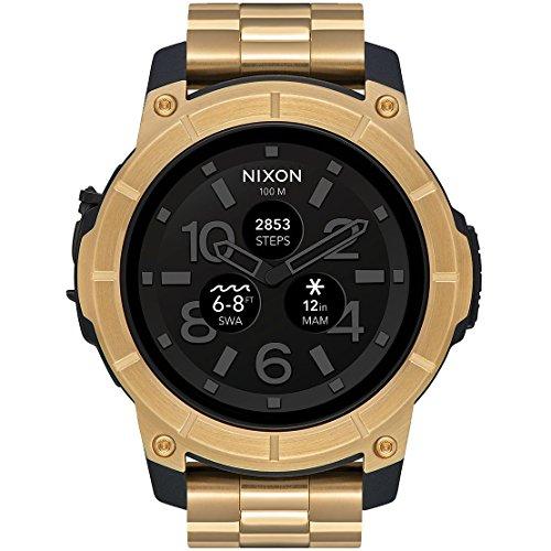 Nixon Mission A1216501 - Smart Stahl Uhr mit Touchscreen für Action-Sportarten.