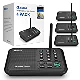 Qniglo Wireless Intercom System, 1/2 Mile Long Range FM 10 Channel Business Intercoms System for Home and Office (4...