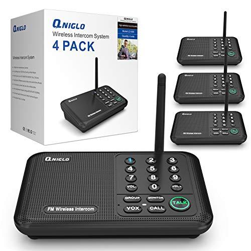QNIGLO Intercoms, Wireless Intercom System for Home, Long Range House Intercom System for Office, Two Way Wireless Intercom Systems for Business